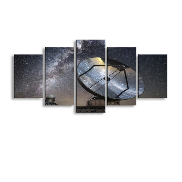 5 pieces high-definition print galaxy photography reflectioncanvas oil painting poster and wall art living room picture XY-029