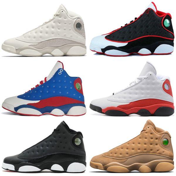 2019 13 13s Scarpe da pallacanestro uomo Phantom Chicago Hyper Royal Black Cat Flints Bred Brown History of Flight sneaker sportive uomo sneakers