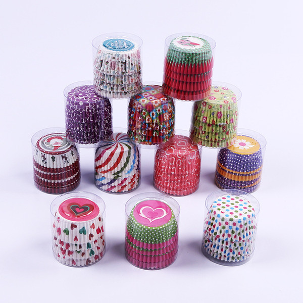 Mini tamaño de papel surtido Cupcake Liners Muffin Casos tazas para hornear pastel taza pastel molde decoración