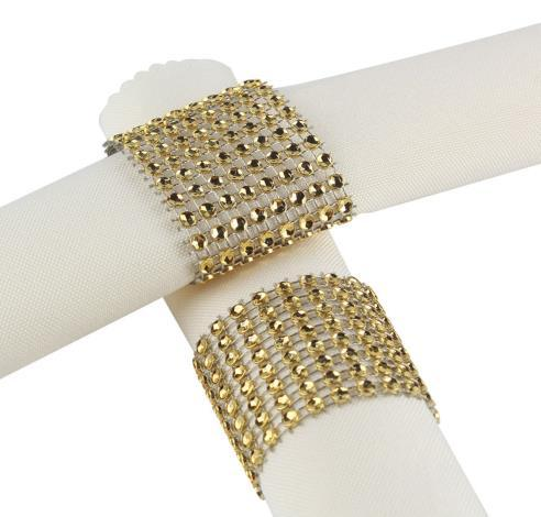 Free Shipping 100 pcs/lot rhinestone napkin rings for wedding table decoration,nickle or rose gold plating