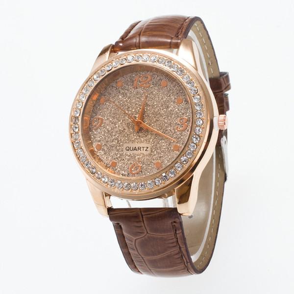 YOYO moda atacado mulheres diamante relógio de couro novo 2018 brilhante projeto simples senhoras casual dress quarta festa relógios de pulso