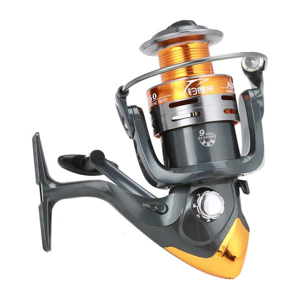 wholesale wheels fish spinning fishing reel 5.2:1 9BB 1000-6000 series carp Spinning wheel type Sea Rock lure fishing reels pesca A3