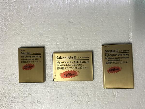 Excellente qualité Haute Capacité 4350mah Gold Batterie de remplacement pour Samsung Galaxy S2 S3 S5 S6 S5MINI pour Samsung Note2 Note3 Note3 Gratuit