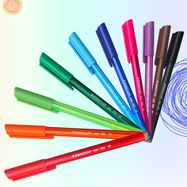 10 Color/Set Colorful Ballpoint Pen 432M10 Erasable Oil Writing Art Paint Designer Office Industries Notebook Supplies