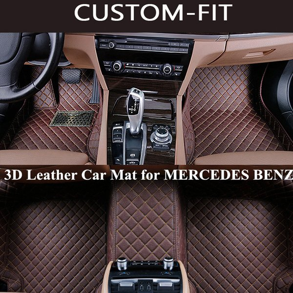 best selling Custom Car Floor Mats for MERCEDES BENZ C300 GLK 350 ML350 W204 W212 GLC GLE All Model Carpet Alfombra Coche Dywaniki Samochodowe