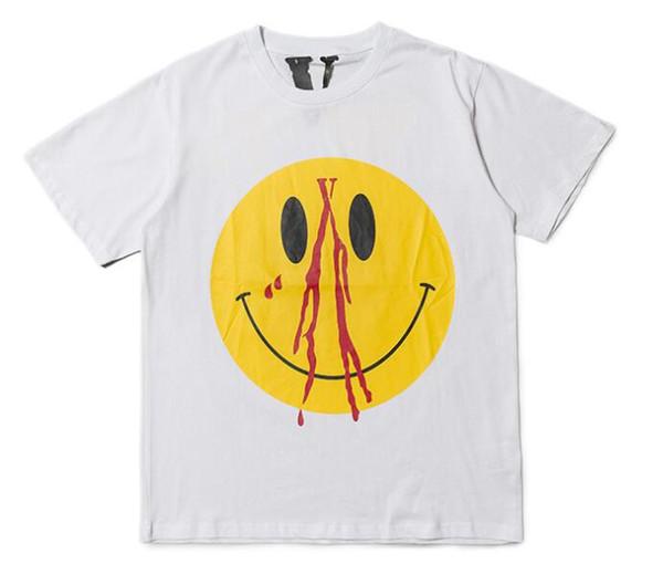 tshirt men Quality barcelo Smiling face T Shirts large V yeeus sweatshirt men/women black white Cruz Backham short sleeved t-shirt
