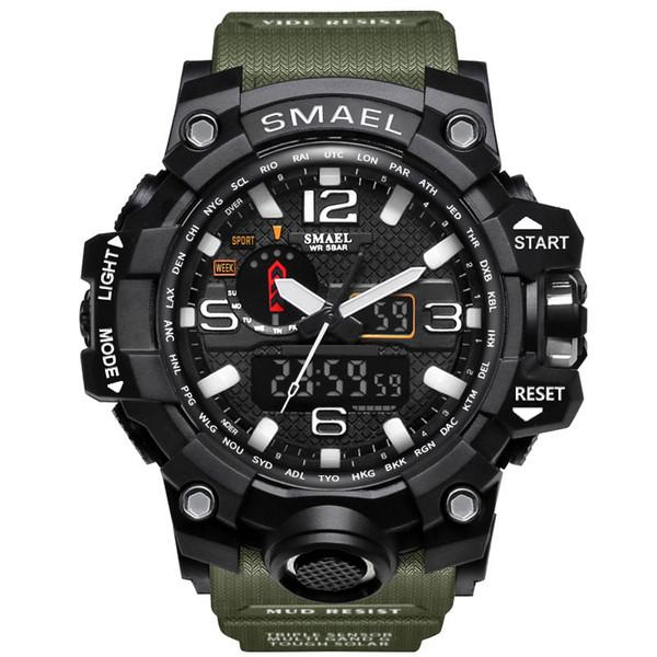 Atacado-Sports Relógios Dual Display Relógios De Pulso De Alarme Relógio De Quartzo Masculino Presente S Relógio De Moda Dos Homens Dos Homens Horas relogio