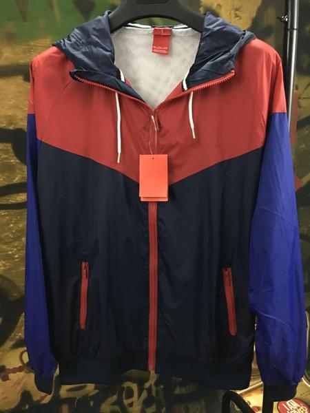 New Spring Autumn Fashion Windrunner Sottile Cappotto Maniche lunghe Patchwork Active Nero Giacche da uomo M-3XL