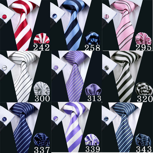 Mens tie stripe multi-colour silk wovenHigh Quality Wedding Bussiness Necktie Hot Sale Ties For Men Cheap Tie Free Shipping