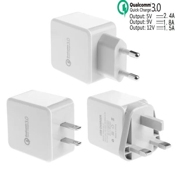 new concept 32778 b468e Fast Adaptive Eu US UK QC 3.0 Wall Charger Power Adapter For Iphone 7 8 X  Samsung S6 S7 S8 Tablet Power Bank 2600mah Charging Pad From Dhdiscount, ...