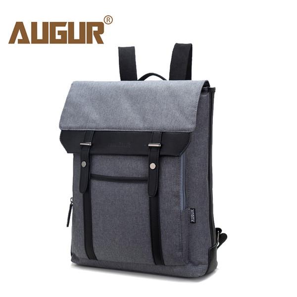 AUGUR 2018 Vintage Men Women Canvas Backpacks School Bags for Teenagers School Boys Girls Large Capacity 16inch Laptop Back pack
