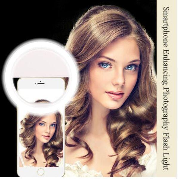 Z30 Cellulare Selfie Ring Light Flash obiettivo bellezza Fill Light Lampada Clip portatile per macchina fotografica per cellulare Smartphone