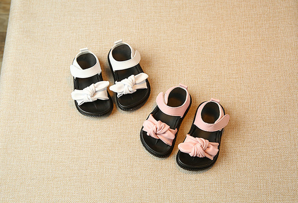 New Cute Baby Girls Sandals Bow-knot Toddler Princess Shoes for Summer Anti-slip