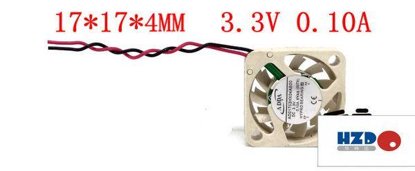 COOLING REVOLUTION AD01703HX04AB00 1704 17x17x4mm 3.3V 0.10A Micro device fan UAV fan