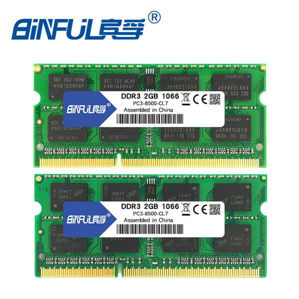 ram memory BINFUL Brand New Sealed DDR3 2GB 4GB 1066mhz 1333 1600 PC3-12800/8500/10600 Laptop RAM Memory /Lifetime warranty Free Shipping