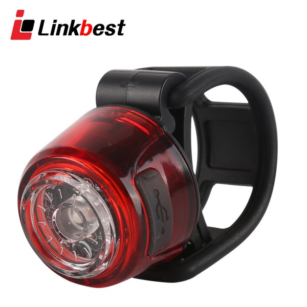 Linkbest USB Rechargeable Bike back Light LED bicycle tail light-Easy to Install for Men Women Kids-Versatile mount-waterproof