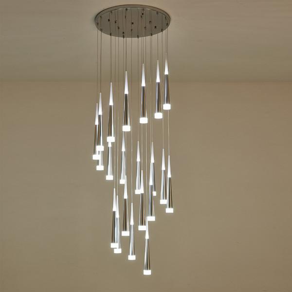 Compre Suspendido Lámparas Escalera Luminaire Light Lámparas Araña Para De Lámpara Largo De Moderna Techo Colgante Lámpara Largas Techo Escalera hdxQCotsrB