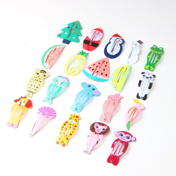 Cute Cartoon Hairpin Barrettes Kid Headwear Hair Clip for Children Gift 20 Styles Hair Accessories Snap Clips Hairpins High Quality