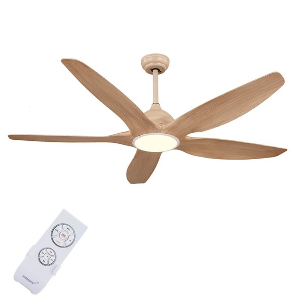 Decorative LED ceiling fan with light Modern design new arrival 62 / 52-F5051-WW DC motor energy saving version