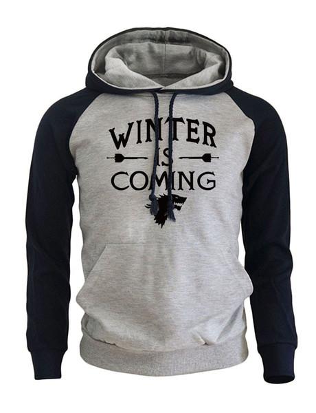 Game of Thrones Fashion Streetwear Hoodies 2018 Autumn New Arrival Winter Fleece Raglan Sweatshirts Hoody Men Pullovers Brand S18101705