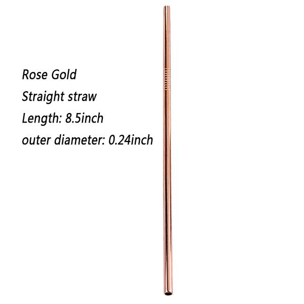 Rose gold 8.5inch straight
