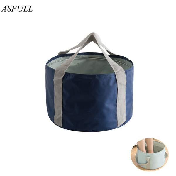 ASFULL New Camping Folding Water Bucket Wash Basin Folding Outdoor For Travel Bag Storage Bags Portable Tool free shipping