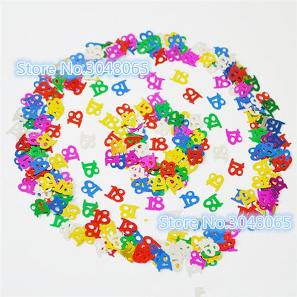 15g Age 18th Year Old Happy Birthday Party Decorations Table Scatters Foil Number Digital 18 Colorful Glitz Sprinkle Confetti