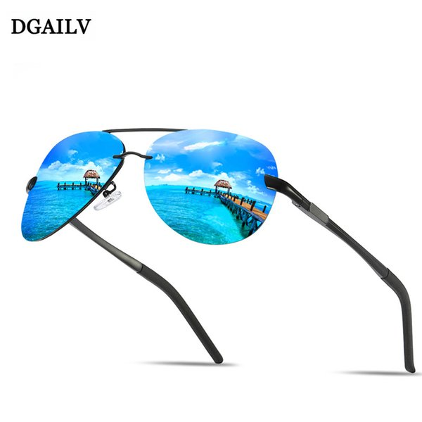 DGAILV Brand Men's Vintage Rimless Sunglasses Male Polarized UV400 Lens Eyewear Accessories Men/Women Sun Glasses top sellers