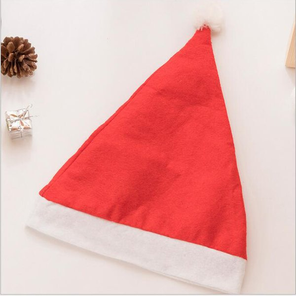 Atacado Baixo Preço Cap Natal Grosso Ultra Macio De Pelúcia Papai Noel Chapéu Do Feriado Do Natal Cap Natal Santa Caus Chapéu Decoração Do Partido