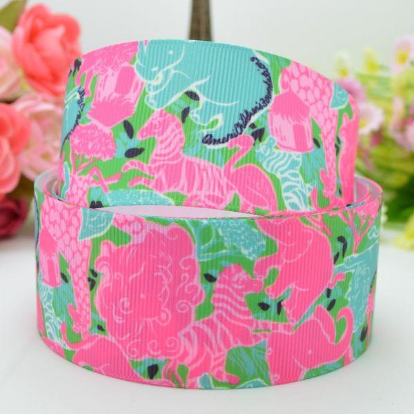 "Lilly Ribbons 1.5"" 38mm Horse Print Grosgrain Ribbon DIY Baby Hairband Bow Ribbon Hair Accessories Decorating Garment & Hat 50Yards"