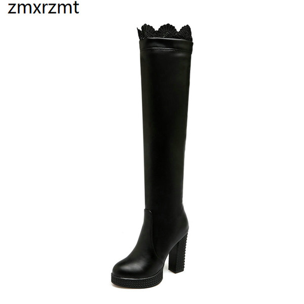2019 women fashion erogenous over the knee high women boots 10.5cm super high heel shoes spring autumn club dancing shoes