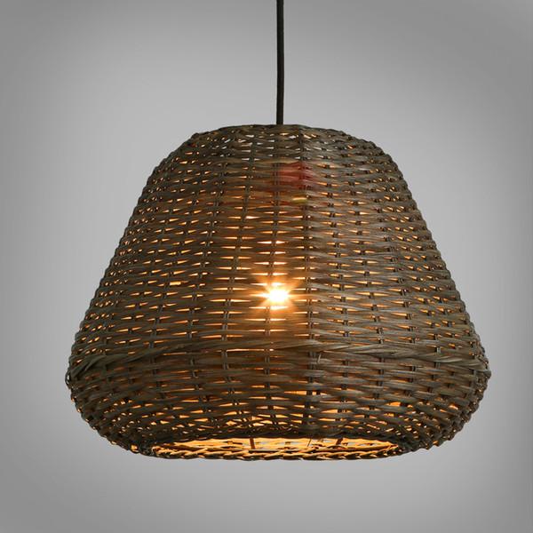 Lâmpadas de Pingente de Lanterna de bambu Preto Rattan Arte Naked Pupa Luz Pingente de Café Sala de Jantar Sala de Chá Quarto Lâmpadas de Iluminação
