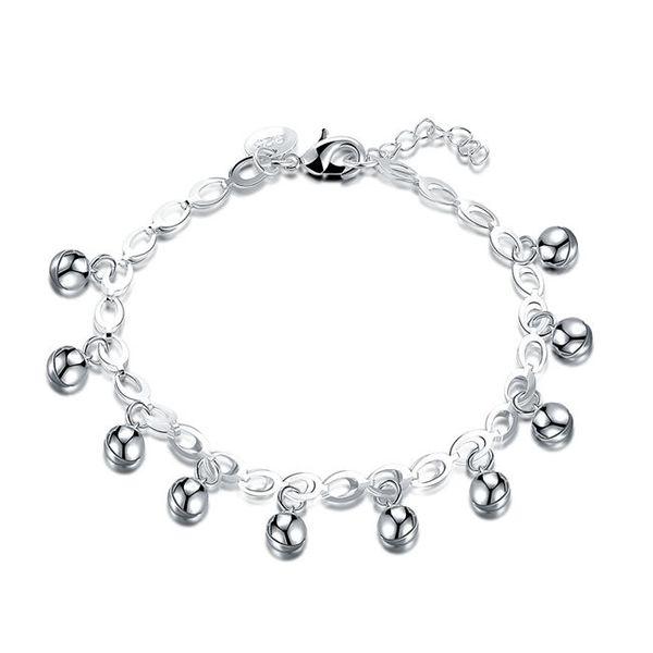 High quati !Fashion bell chain sterling silver plated bracelet SPB611;high quatity fashion men and women 925 silver Charm Bracelets