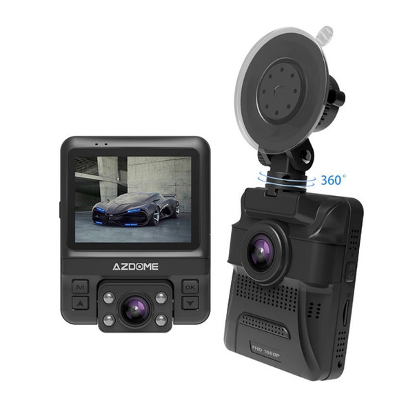Mini Dual Lens Car DVR Dash Cam anteriore Full HD 1080P / Rear 720P Videoregistratore Car Camera Night Vision GPS