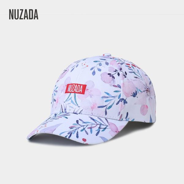 NUZADA Ms Frischen Stil Snapback Stickerei Brief LOGO Frauen Baseballmütze Druck 3D Frühling Sommer Herbst Hut