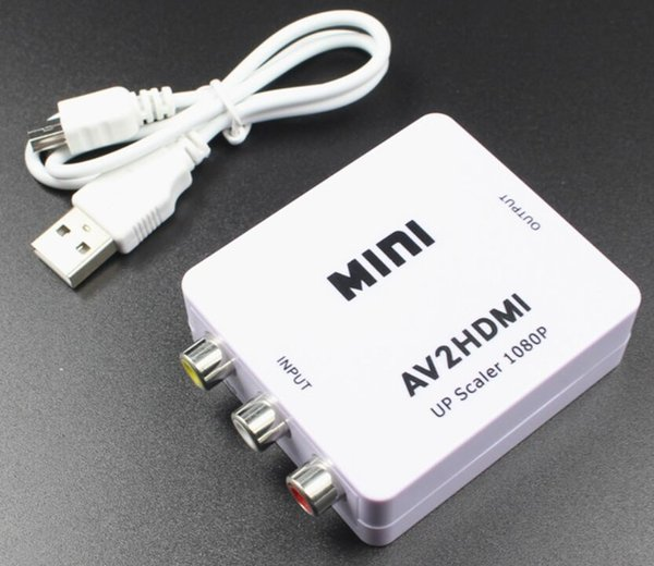 AV para HDMI conversor de vídeo composto / FL / FR sinal de áudio para HDMI scaler CVBS RCA para HDMI Video Converter 720 P / 1080 P