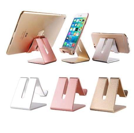ET Evrensel Telefon Tutucu Metal kaymaz Cep Telefonu Tutucular iPhone Masaüstü Samsung Tablet için Masaüstü Masa Dağı Telefon Standı