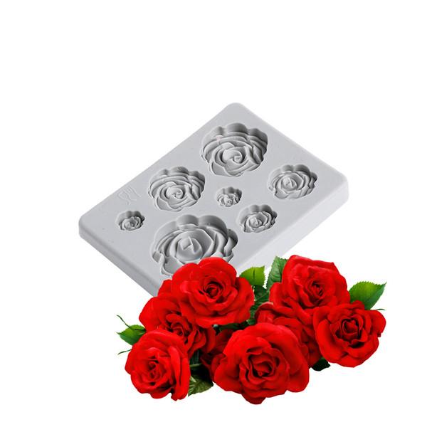 3d form fondant rose blume blatt silikon das werkzeug sugarcraft kuchen