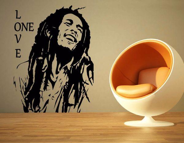 Bob Marley Reggae Rasta Jamaica Large Vinyl Transfer Stencil Decal Sticker Wall Art Home Room Decorative
