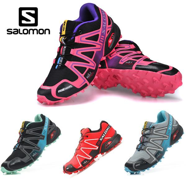 Salomon Speedcross 3 CS Trail Running Shoes Women Black Pink Speed Cross III Lightweight Waterproof Outdoor Sports Sneakers Running Clothes Sports