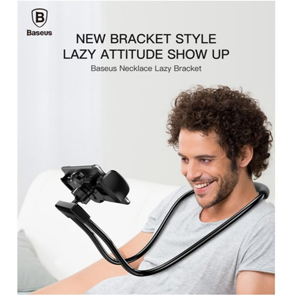 wholesale Flexible Mobile Phone Holder Necklace Long Arm Lazy Bracket Soft Metal Holder Stand For iPhone iPad Air 4-10 inch Tablet
