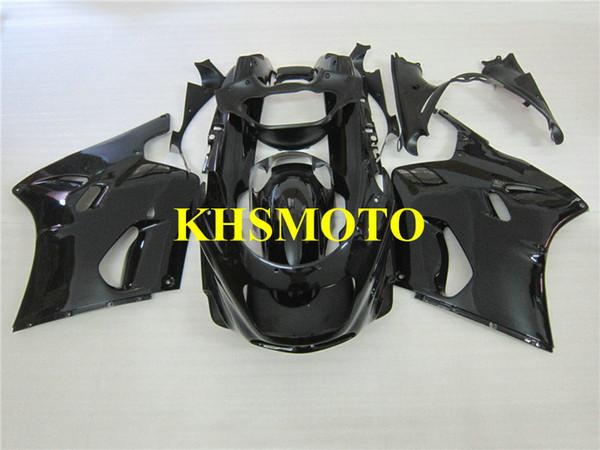 Motorrad Verkleidungssatz für KAWASAKI Ninja ZZR1100 93 99 01 03 ZZR 1100 ZX11 1993 2001 2003 ABS schwarz glänzend Verkleidungssatz + Geschenke ZD02