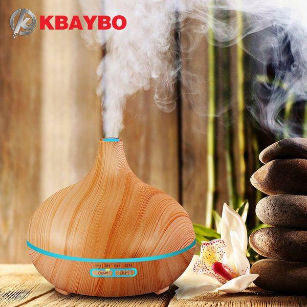 300 ml de ar umidificador difusor de óleo essencial lâmpada de aromaterapia aromático namoro difusor de aromaterapia grão de madeira para uso doméstico