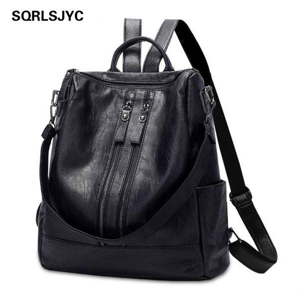 Women Backpack Feminina Escolar Bagpack Leather s Menina l Realer BackpackS korean style School BagS back pack