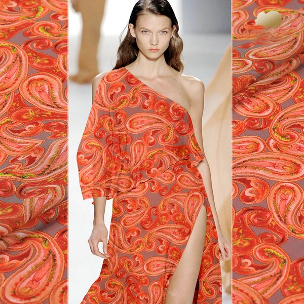 Tela de seda impresa de Georgette para el vestido de seda del verano y la bufanda