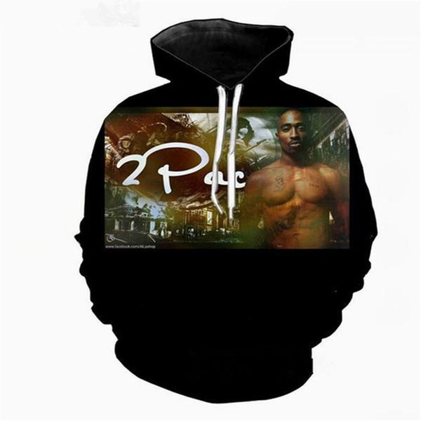 funny rapper tupac 2pac latest l harajuku style 3d print hoodies fashion clothing women/men fashion hoodiest casual pullovers k429