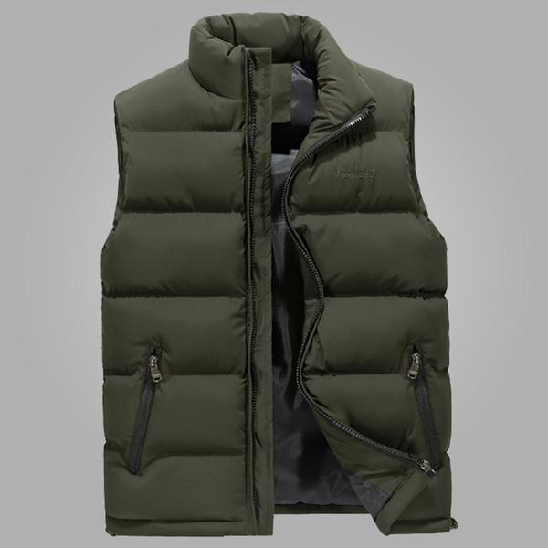 Ärmellos Großhandel Mode 6xl Neue Herbst Weste Stilvolle Jacke Männer Casual Größe Frühling Warm Mäntel Winter Herren Armee Plus cqARL435jS