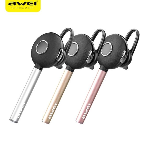 172c9eb7072 AWEI A825BL Auriculares Bluetooth Estéreo Auriculares Inalámbricos de Metal  Mini Auriculares Con Micrófono Para Teléfono Manos