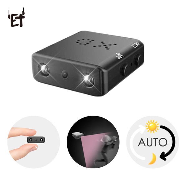 ET XD Wireless Mini Camera Smallest HD 1080P Camcorder Micro Infrared Night Vision Cam Motion Detection Car DVR Support TF/SD