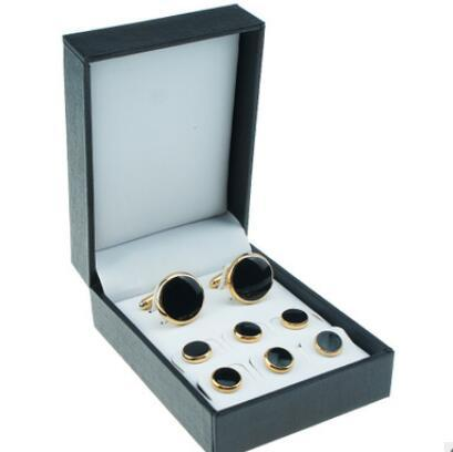 designer jewelry boxes for cuff links black boxes for mens PU hot fashion free of shipping